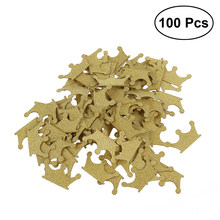 100pcs DIY Double-sided Gold Glitter Crown Confetti for Wedding Birthday Party Baby Shower Cupcake Topper Decoration(China)