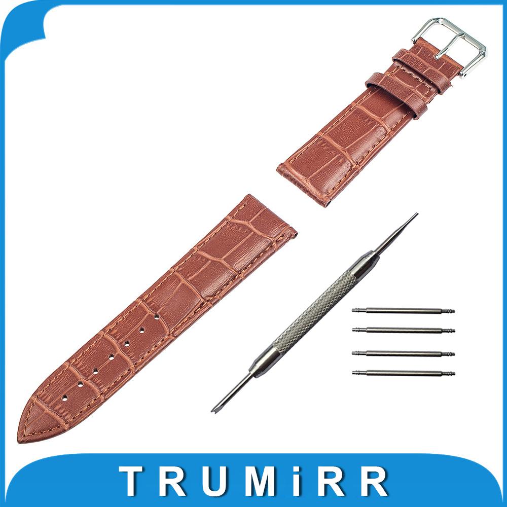 Prix pour 18mm 20mm Véritable Bracelet En Cuir pour DW Daniel Wellington De Remplacement Bracelet Bracelet Bracelet avec Outil Printemps Bar 6 Couleurs