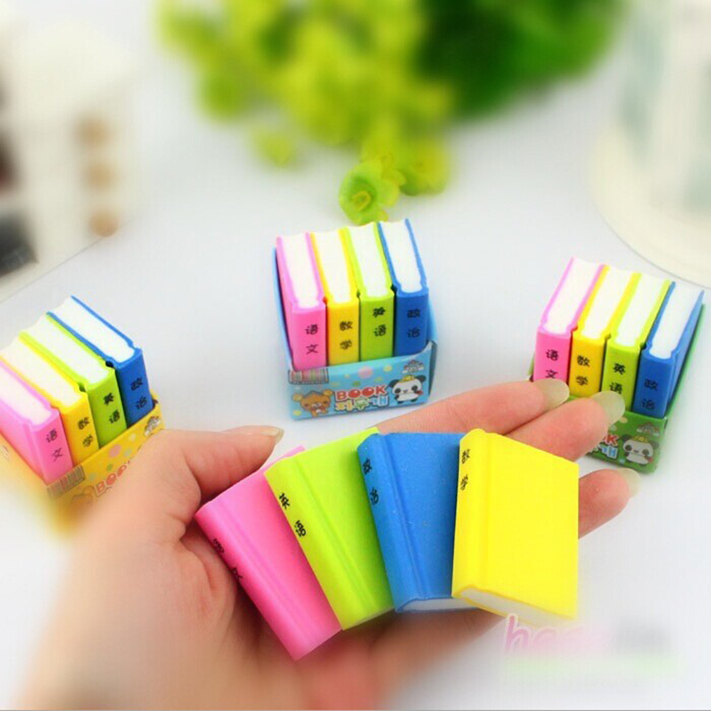 High Quality Pencil Eraser Books Eraser Random Send 4 Sale Drawing Sketch Rubber Quick Erase Traces Of Practical