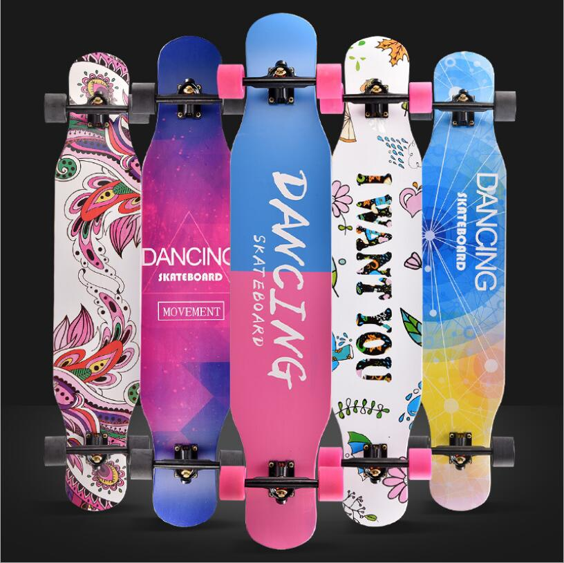 Image 1 - 117cm Professional Complete Longboard Skateboard Street Dancing Longboard Skateboard Downhill Maple Deck Board-in Skate Board from Sports & Entertainment