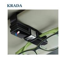 KRADA accesorios del coche titular de gafas para el BMW e46 e60 e90 f30 f10 f20 e39 e36 x5 x3 x1 x5 e92 f30 e30 e34 e53 x5 70 Car-styling