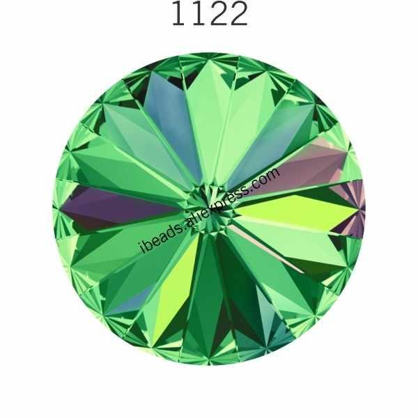 1122 cristales de Swarovski Rivoli, piedras redondas, diamantes de imitación de Austria para decoración de ropa