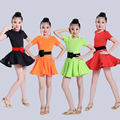 Students Children Kid Latin Dancewear Competition Dancing Clothing Girl Dance Costume Child Latin Ballet Dance Dress For Girls