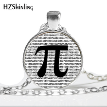 Hot glass dome jewelry PI Necklace Math Jewelry Teachers, Science, Mathematics Black and White Art Pendant jewelry HZ1(China)