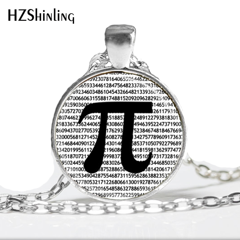 Hot glass dome jewelry PI Necklace Math Jewelry Teachers, Science, Mathematics Black and White Art Pendant jewelry HZ1
