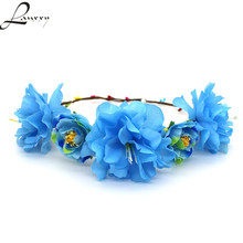 Lanxxy Flowers Hair Accessories Girls Headband Bridal Floral Crown Women Wedding Hairbands