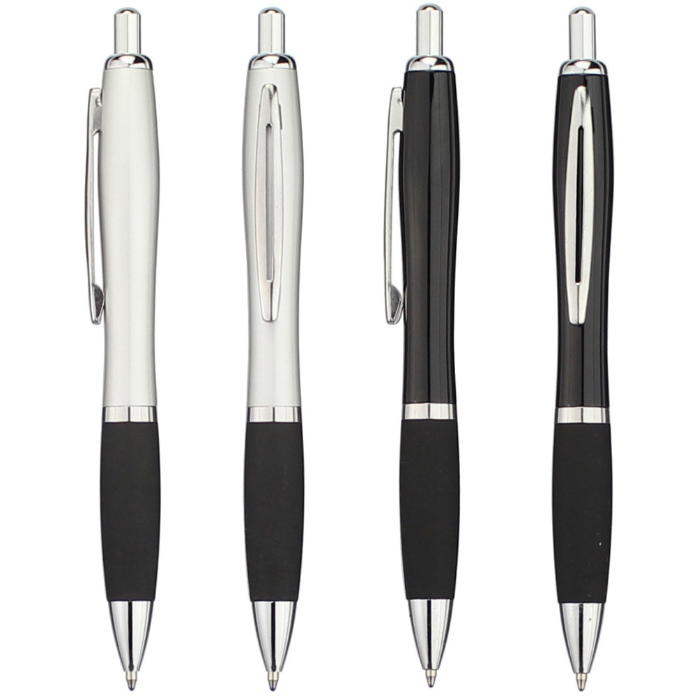 Guard Metal Ballpoint Pen With Rubber Grip Black Ink New