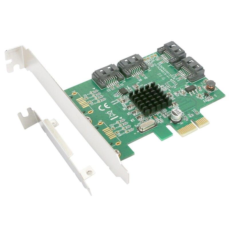 Carte Raid PCI-E à SATA3.0 Carte Raid 4 ports SATA3 SATA 3.0 6gbps Prise en Charge du DISQUE DUR SSD Système Botte RAID0 1 10