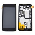 New For Nokia lumia 530 lcd display +touch screen digitizer assembly with frame replacement part  ,hot sale free shipping!