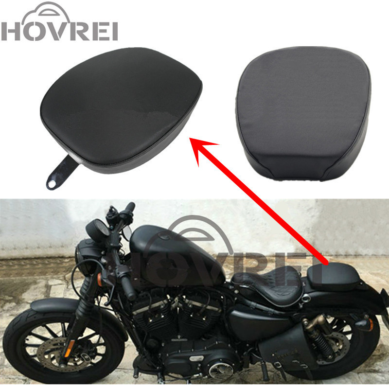 1Pcs Black Motorcycle Rear Pillion Passenger Seat For 2010-2016 Harley Sportster XL 1200 Iron 883 XL883N 48 72 XL1200V 2012-2016