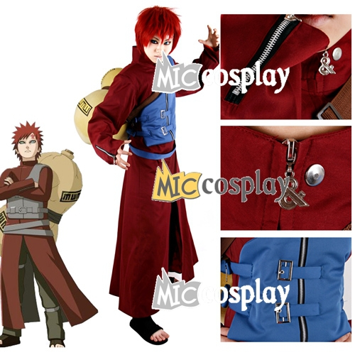 Naruto Gaara Cosplay Costume - Cosplay Outfits Clothes Halloween Outfits