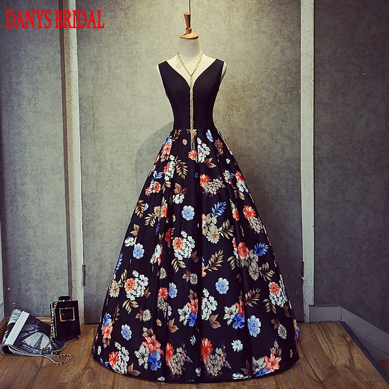 Elegant Long Evening Dresses Party Women A Line Prom Dress Floral Formal Evening Gowns Dresses On Sale Vestido De Festa