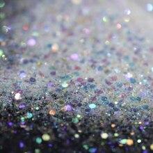Белый прозрачный голографический Единорог блеск микс Красочные Блестки Пыль для дизайна ногтей Радуга косметическое ремесло класса