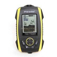 Phiradar 2.4″ Wireless Portable Fish Finder 120ft/36M Depth Detection 200ft/60M Sonar Sounder Alarm