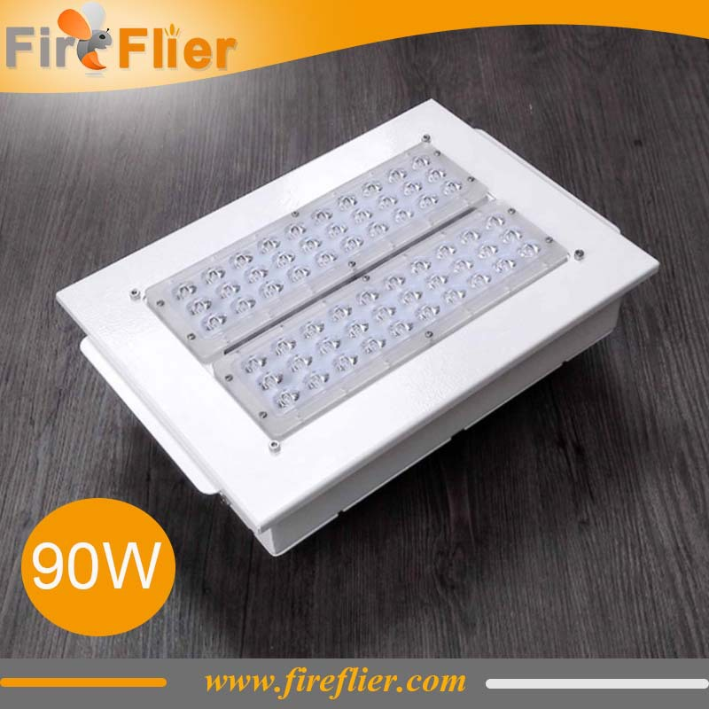 8pcs/lot 120w retrofit fixture 90w gas station lighting 150w led petrol station lamp 100w with recessed install pure white 200w