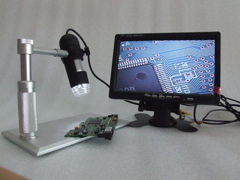 """Agresivo Aluminio Av 1200x Microscopio De Alta Resolución Endoscopio Portátil 8-led Aplicable Av Puerto Monitores Lcd Tv, Monitor De 7 """"incluido Un Remedio Soberano Indispensable Para El Hogar"""