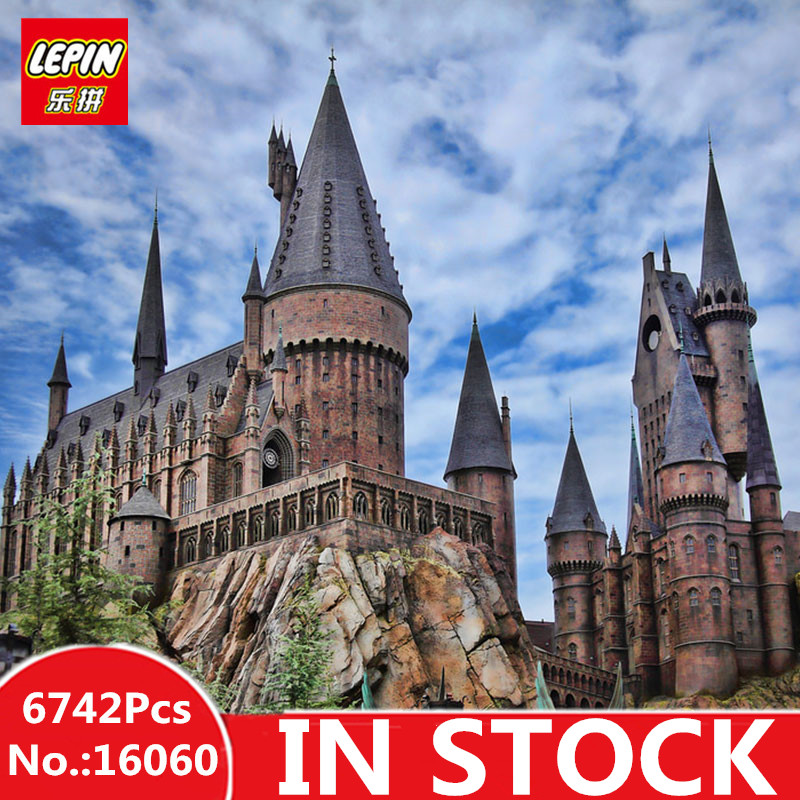 В наличии Лепин 16060 6742 шт. Гарри Magic Поттер Хогвартс замок Совместимость 71043 строительные блоки кирпичи детские развивающие игрушки