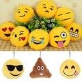 New Baby Младенческой Милые Плюшевые Игрушки Мило Emoji Смайлик Мягкого Плюша Желтый Круглый Игрушка-Брелок Подарок для Друзей