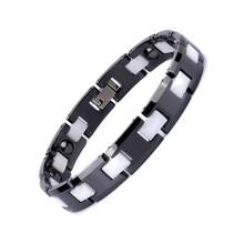 Jewelry Ceramic Magnet Bracelet Fashion Black and White
