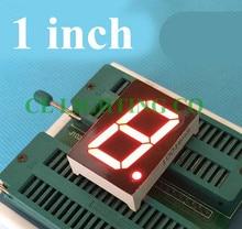RED 7 Segment LED Display 1 Bit Digital Tube 1 inches 34*24*10.5MM Nixie tube Plastic Metal Common Anode