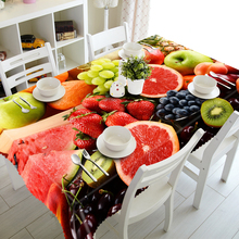 Pastoral Restaurant Tablecloth 3d Watermelon Grape Fruit Pattern Waterproof Rectangular and Round Table cloth for Party Banquet недорого