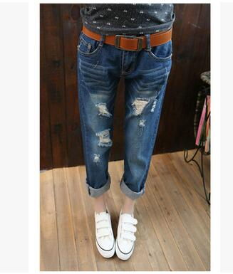 Nine pants New casual fashion college students jeans Female Denim For Women Ripped Jeans 2017 Summer Large Size Women Fat MM dieting practices among ahfad university for women students