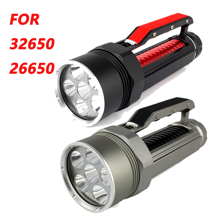 Haute luminosité XM L2 9000 Lumen 6X CREE XML L2 LED professionnel plongée linternas étanche lampe de poche pour 26650/32650