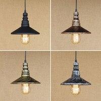 12 4 Color Loft Industrial Iron Water Pipe Vintage Pendant Lamp Cord E27 Antique Rust Lights