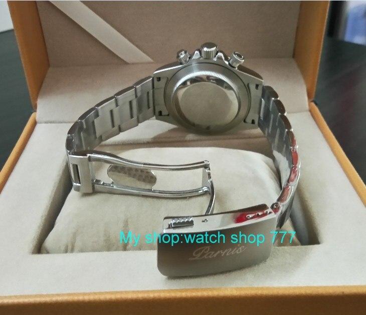 Saphir Cristal 39mm PARNIS Japonais mouvement à quartz hommes de montre Multi-fonction quartz montres 5Bar pa25 - 5