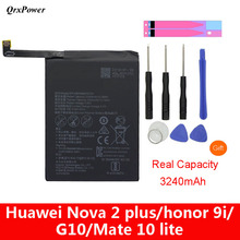 QrxPower Replacement Battery 3340mAh HB356687ECW For Huawei Nova 2 plus Nova 2i honor 9i huawei G10 Mate 10 lite qrxpower replacement battery 3750mah hb386589cw for huawei p10 plus vky al00 honor 8x play nova 4 mate20 lite