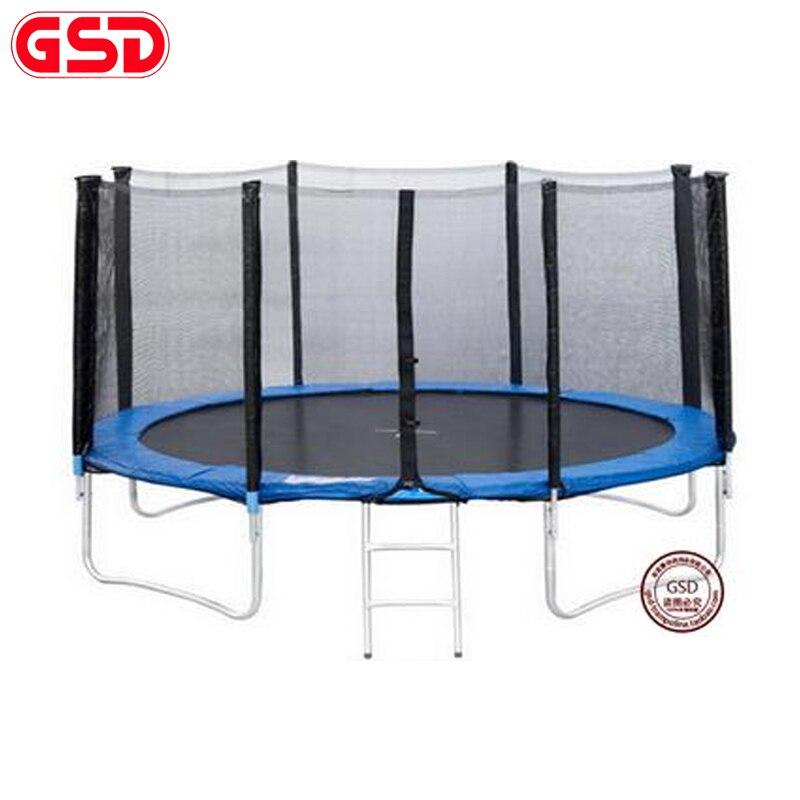 GSD wysokiej jakości 13 stóp rozmiar wiosna trampolina z bezpieczną netto drabiny osłona przeciwdeszczowa TUV-GS został zatwierdzony