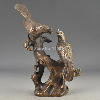 CHINESE HANDWORK PIG OLD COPPER STATUE