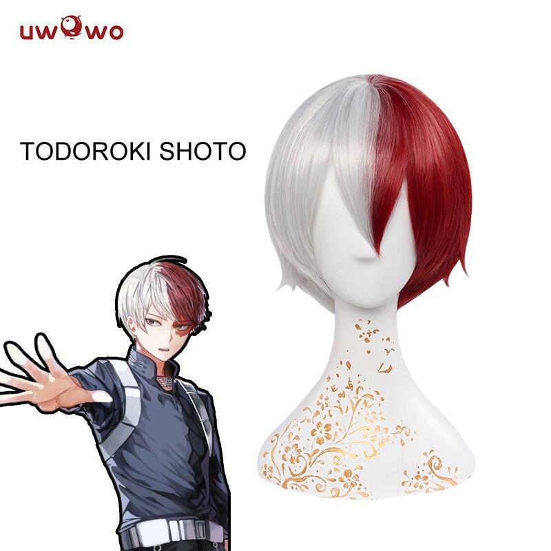 UWOWO Shouto Todoroki Wig Boku No Hero Academia Cosplay Wig My Hero Academia Hair Men  Todoroki Cosplay Hair Heat Resistant