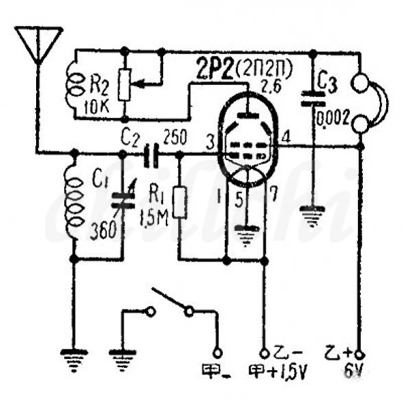 Tube Radio Kit Dc Two Light Kit Cw Ssb Radio Battery Powered