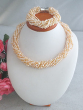 Darmowa dostawa! Naturalna perła słodkowodna naszyjnik zestaw kolczyków moda zestaw biżuterii i zestaw dla nowożeńców oryginalne z pereł słodkowodnych Z-3752 tanie tanio Zestawy biżuterii necklace bracelet Kobiety TRENDY CORAL Ślub Miedzi PLANT Naszyjnik bransoletka jewelry set 02 NoEnName_Null