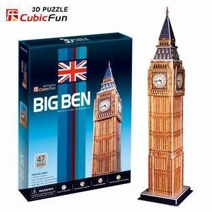 CubicFun 3D puzzle DIY toy paper building model Big Ben London C094H world s great architecture
