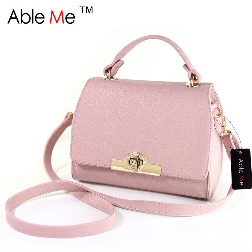 ФОТО AbleMe New 2017 Women Handbag High Quality PU Leather Shoulder Portable Messenger Bag Ladies Tote Bag Crossbody Bags for Girls