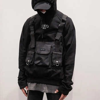 Fashion Chest Rig Bag Hip Hop Streetwear Functional Tactical Chest Bags Cross Shoulder Bag Kanye West  backpack waist bag black - DISCOUNT ITEM  49% OFF All Category