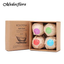 4pcs Bath bomb Set Body Scrub Ball Craft Natural Bath Bomb Skin Care Home spa Essential Oil 4 Smells gift box(China)