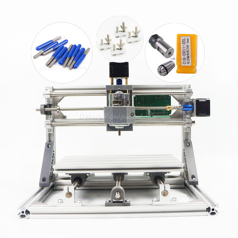 No tax to Russia Disassembled pack mini CNC 2418 PRO Pcb Milling Machine diy mini cnc router with GRBL control no tax to russia diy 2520 4axis mini cnc router cnc lathe machine for wood pcb plastic carving and milling