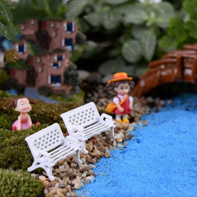 1 Stks 1.5 Cm Micro World Bonsai Tuin Kleine Ornament Landschap Decoratie De Park Zit Stoel Seat Pop Wit