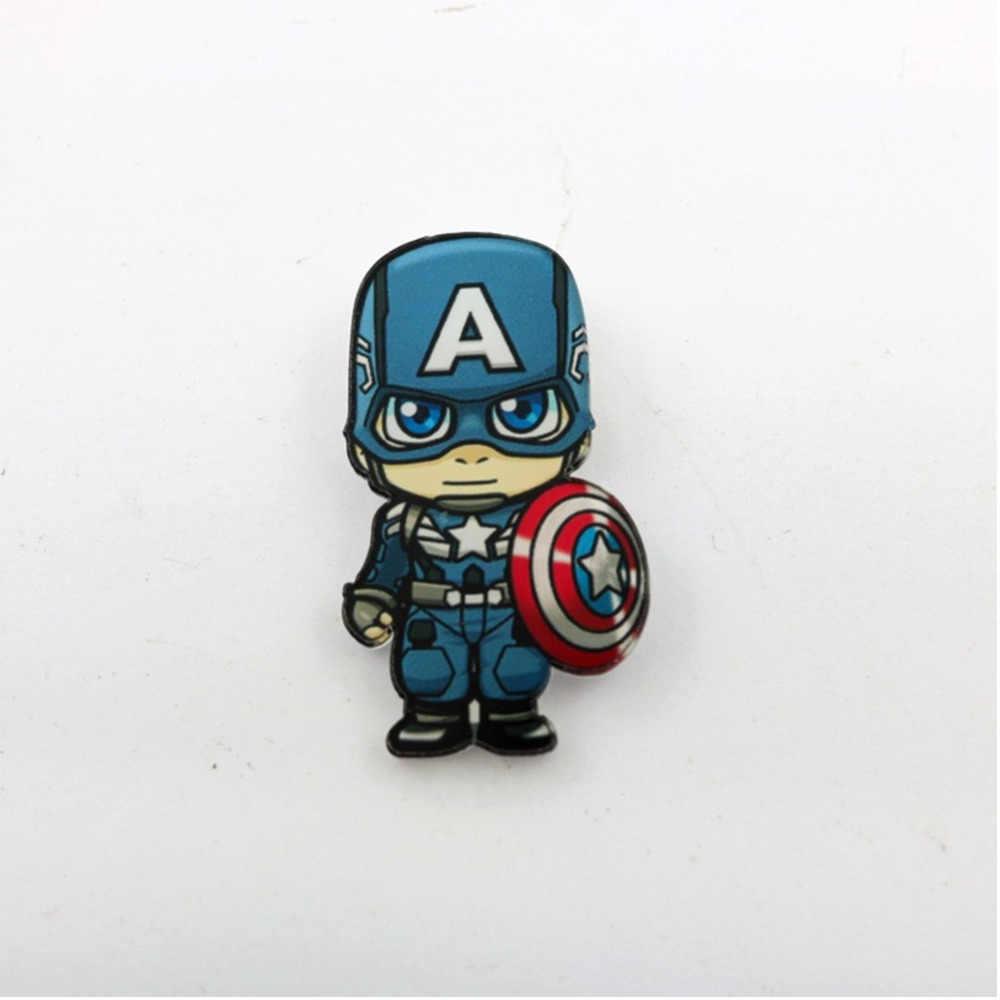 Marvel Lencana Avengers Bros Pin Thor Pin Film Endgame Perhiasan Iron Man Captain America Spiderman Bros untuk Wanita Pria Hadiah