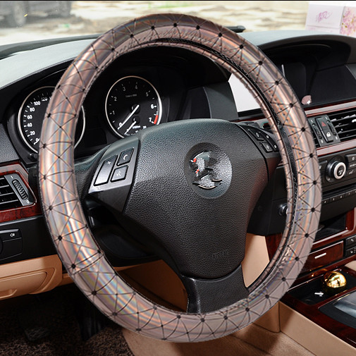 Car Steering Wheel Cover leather Colorful Slip resistant braid on the steering wheel Car accessories Hot Sale
