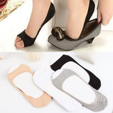 Stealth easy without finger socks cotton fashion elastic fish mouth skin color 1 new pair of shallow summer