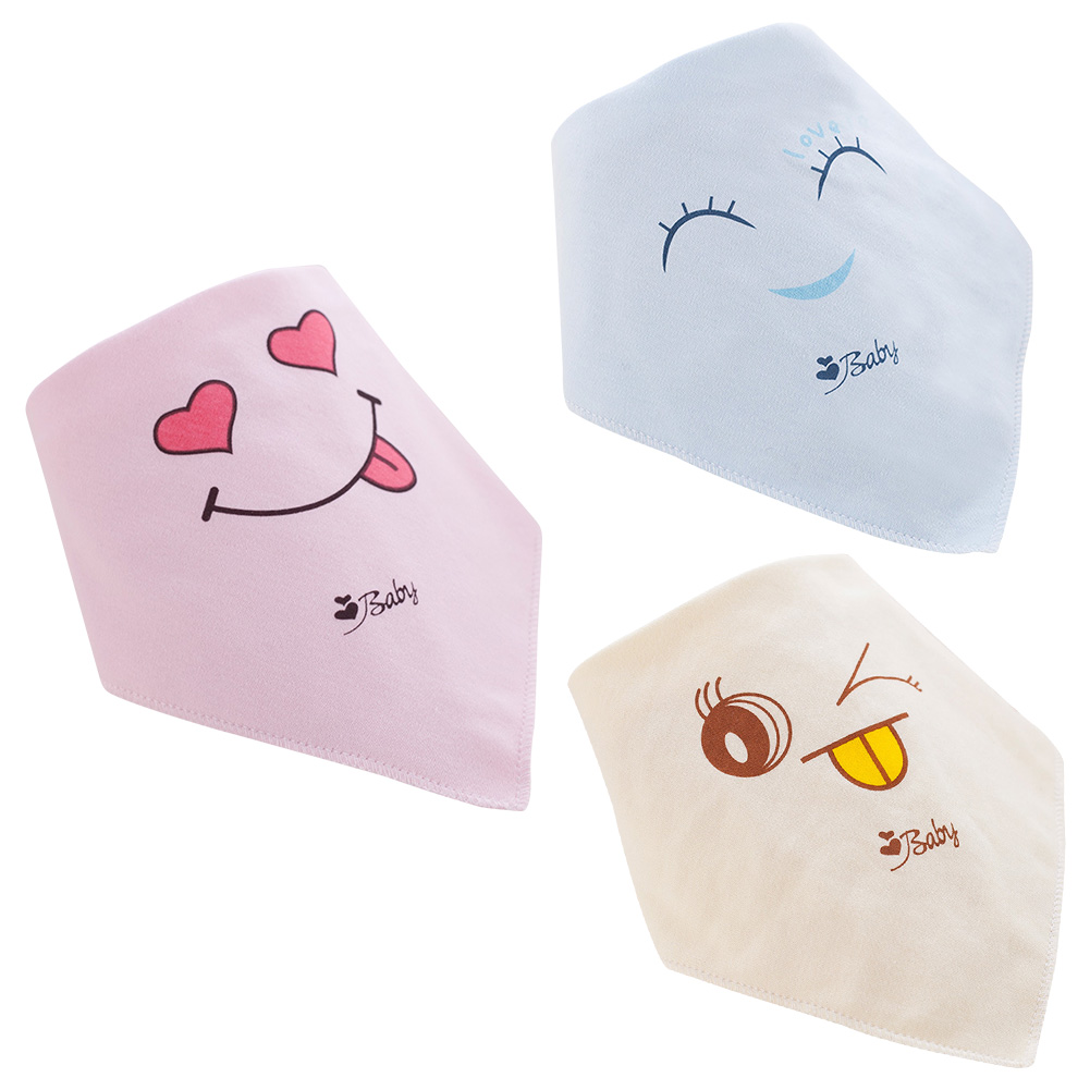 Lovely Cartoon Smile Heart Newborn Baby Bibs Soft Bib Burp Cloth For Babies Girls Boys Bib Babies Saliva Towel Clothing