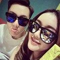 Gafas de Sol de moda Diseñador de la Marca de La Vendimia Hombres Flat Top gafas de Sol Mujeres Shades Oversize Gafas De Sol Oculos 8235
