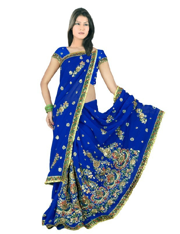 dd5b179fd07d NEW mariage Indien embroidery hand work with perl Sari Saree ROBE KAFTAN  Ventre indian sarees dress