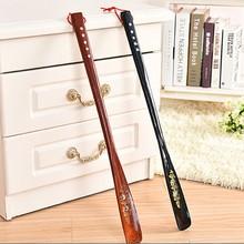 55 cm Ultra Long Mahogany craft wenge Wooden Shoe Horn Professional Wooden Long Handle Shoe Horn Lifter Shoehorn Random Color