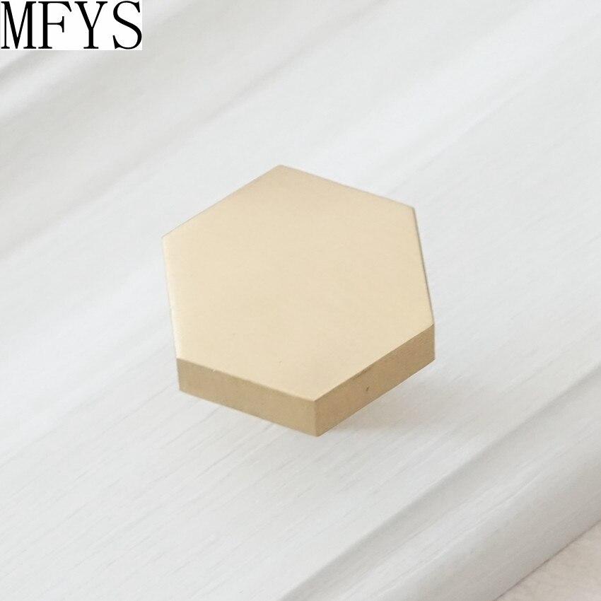 1 39 39 1 25 39 39 Brass Knobs Cabinet Knob Handle Dresser Handles Hexagon Drawer Pulls Handle Antique Single Knob Kitchen Hardware in Cabinet Pulls from Home Improvement
