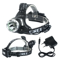 High quality CREE XM-L T6 Headlamp LED Headlight Head lamp 3000 Lumens Flashlight Head Torch 3 mode +EU Charger